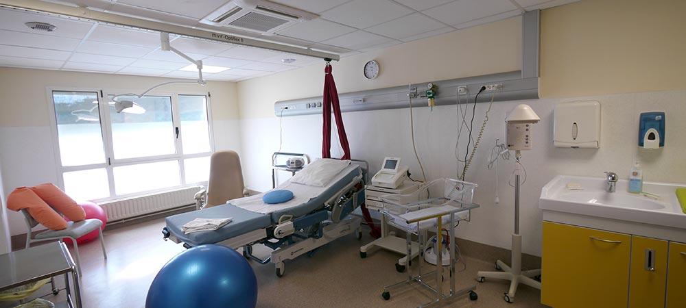 la salle de naissance de la maternité
